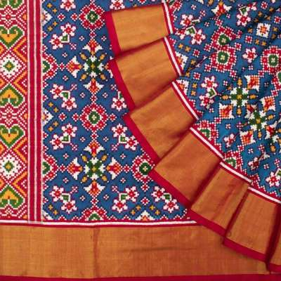 Patan Patola Double Ikat Navaratna Blue Saree Profile Picture